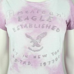 American Eagle Outfitters Tops - American Eagle Outfitters Women's T Shirt Pink Tie